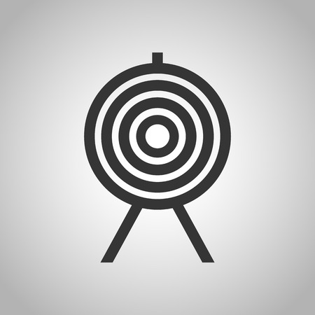 shooting at goal: shooting with bow icon