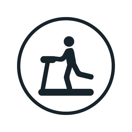 stamina: Treadmill icon Illustration