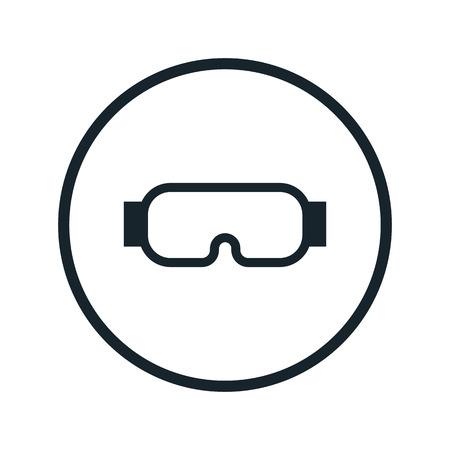 protective: protective glasses icon