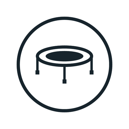 bounce: trampoline icon Illustration
