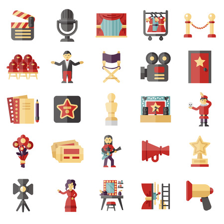 show business icon set