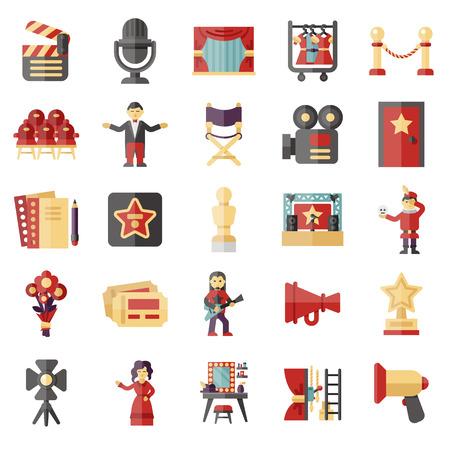 show business: show business icon set Illustration