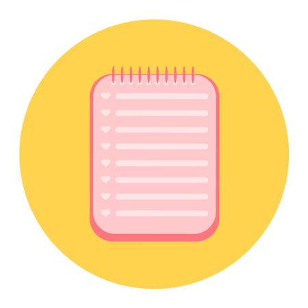 notebook: notebook icon Illustration