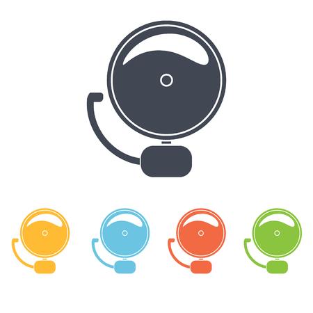 school bell icon Illustration