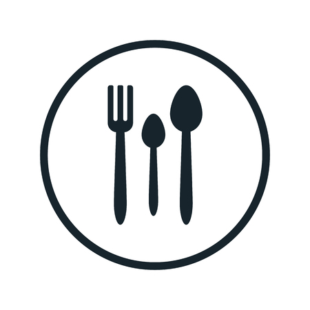 fork and spoon flat icon