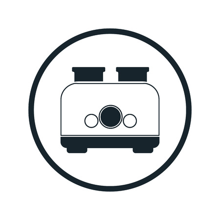 bread maker: toaster flat icon