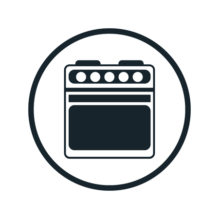 oven range: gas stove flat icon Illustration