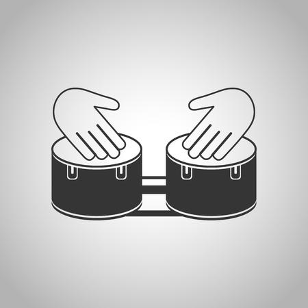 arranging: hand drum icon Illustration