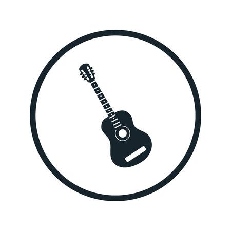Icono De La Guitarra Acústica Ilustraciones Vectoriales, Clip Art ...