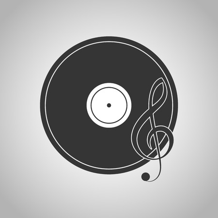 turntable: turntable icon Illustration