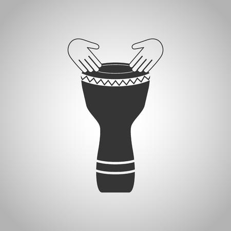 shamanic: hand drum icon Illustration