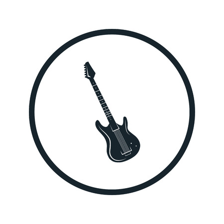 fretboard: electric guitar icon