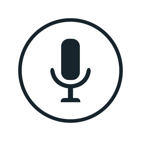 ikona mikrofonu Ilustracje wektorowe