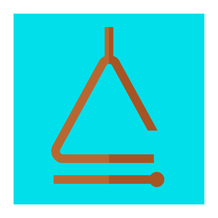 musical triangle icon Illustration
