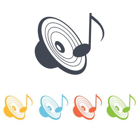 music center icon Illustration