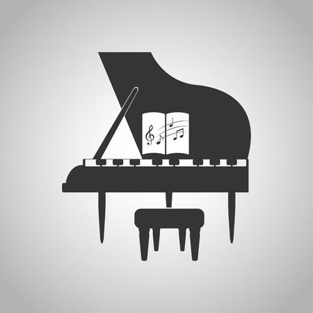 piano, icône