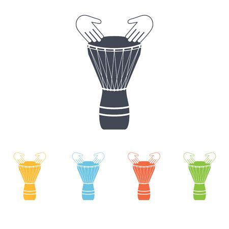 compose: hand drum icon Illustration