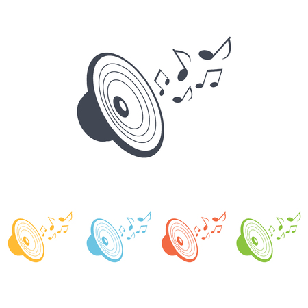 acoustic systems: music center icon Illustration