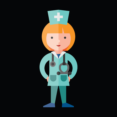 doctor icon: doctor flat icon Illustration