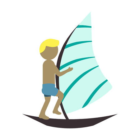 subculture: surfing flat icon Illustration