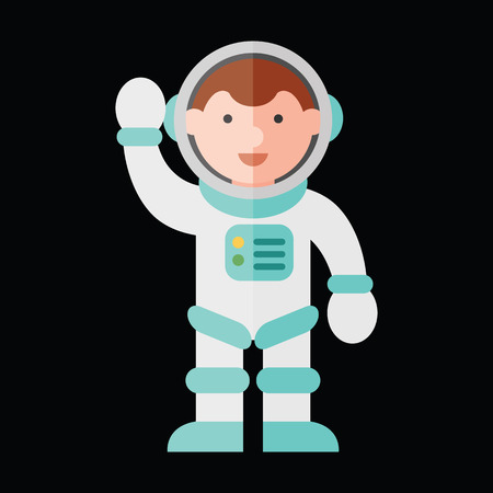 cosmonaut flat icon Illustration