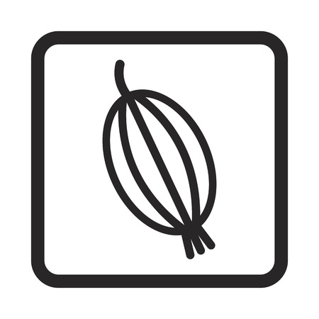 gooseberry: icono de la grosella espinosa Vectores