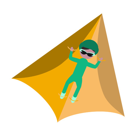 paraglider flat icon Illustration