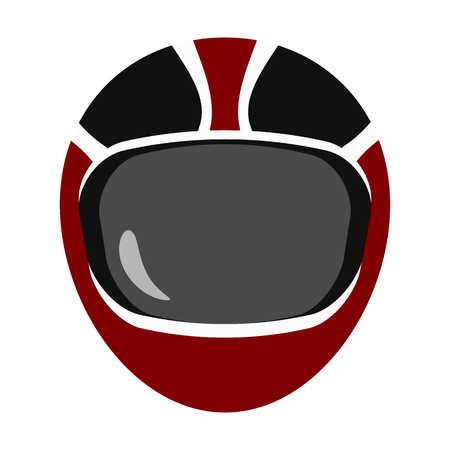 protective: protective helmet flat icon Illustration