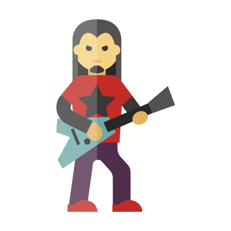 stage costume: musician icon Illustration
