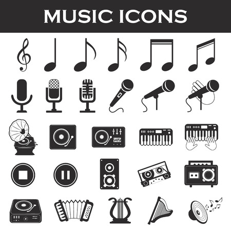 Cymbals: musical instruments icon set