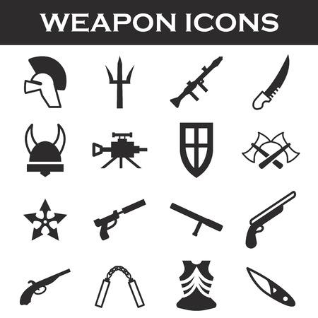 crowbar: weapor icons set
