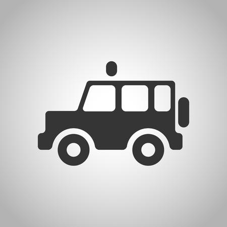 jeep: car icon Illustration