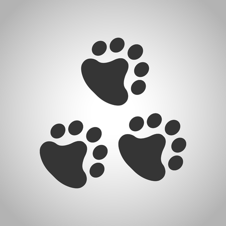 animal tracks: icono de huellas de animales