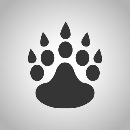 huellas de animales: animal tracks icon