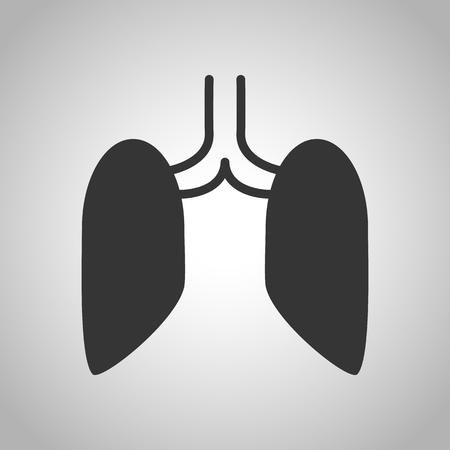 panting: human organs icon Illustration