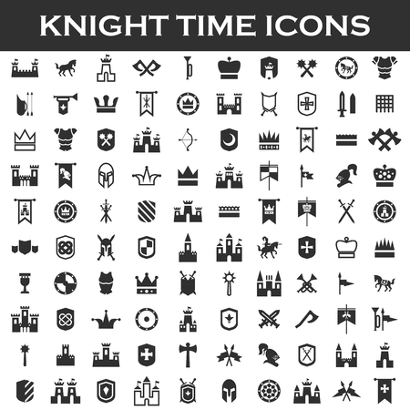 chivalry: chivalry set icons Illustration