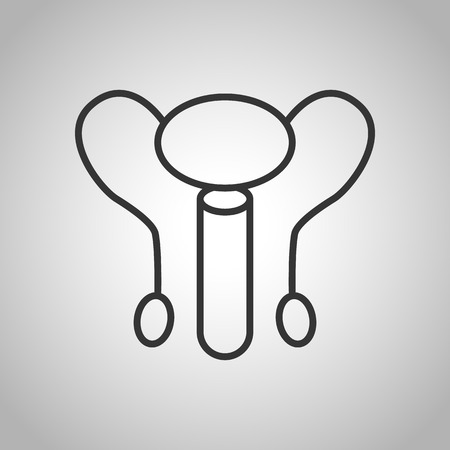 urinary tract: human organs icon Illustration