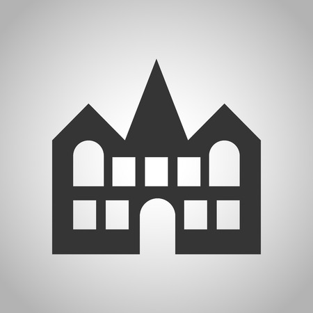domestic garage: private house icon Illustration