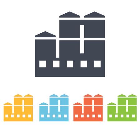 dangerous construction: factory icon