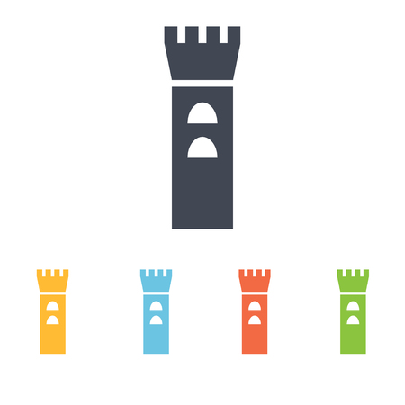 fortification: castle icon Illustration