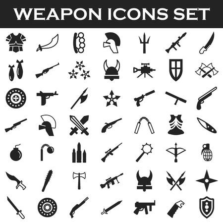 truncheon: weapon icons set Illustration