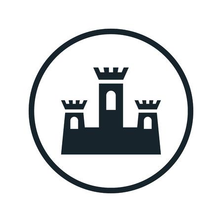 chateau: castle icon Illustration