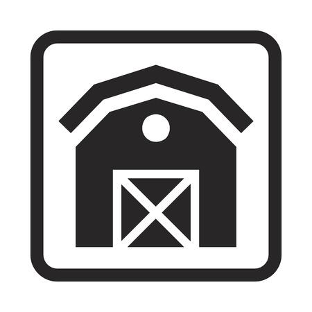 domestic garage: barn icon Illustration
