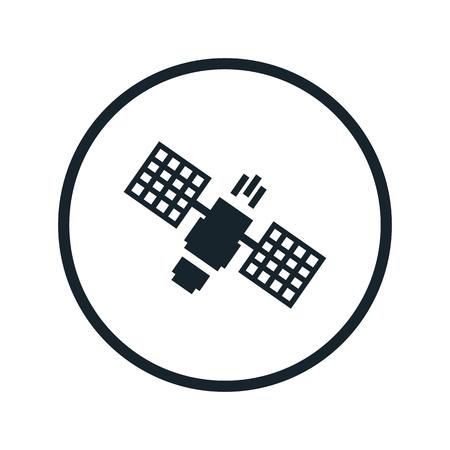 transponder: space satellite icon