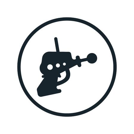 blaster: space blaster icon Illustration