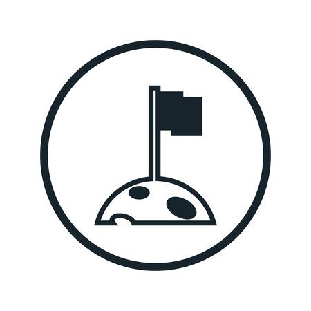 space colonization icon Illustration