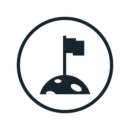 colonization: space colonization icon Illustration