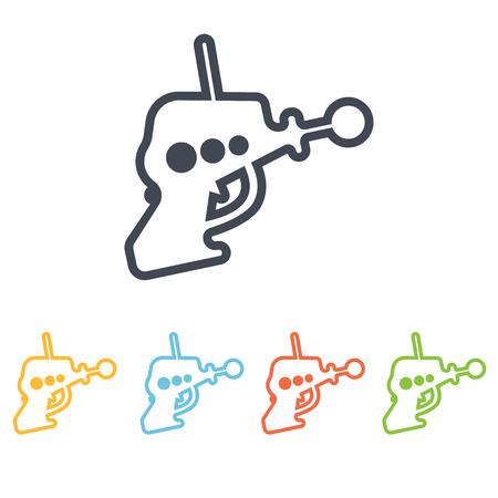 space blaster icon Illustration