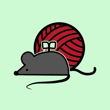 prankster: clockwork mouse icon Illustration