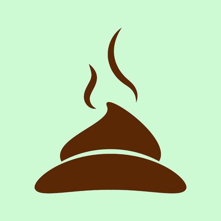poop flat icon Illustration